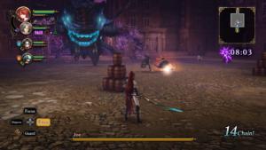 Night of Azure 2: Bride of the New Moon combat