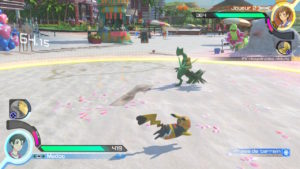 Pokkén Tournament DX - Pikachu contre Jungko