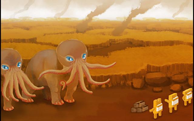 Shortest Trip to Earth illustration quadrupèdes à tête de poulpe