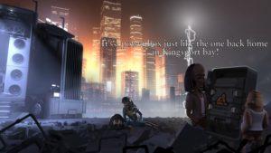 The Journey Down: Chapter 3 boîte électrique au milieu des ruines