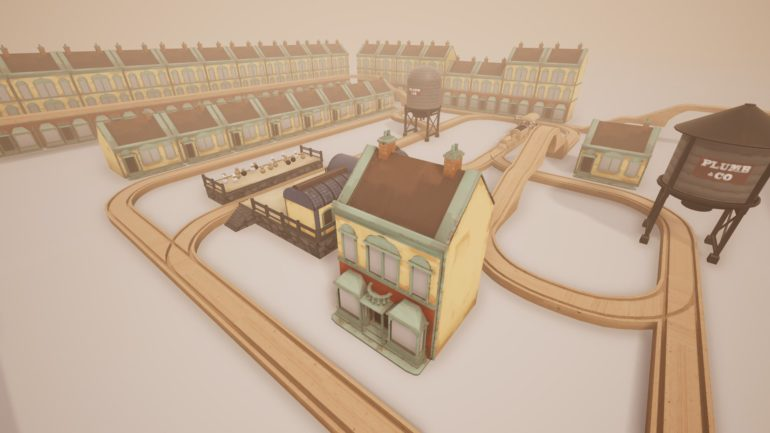 Tracks – the train set game circuit en bois autour de la ville