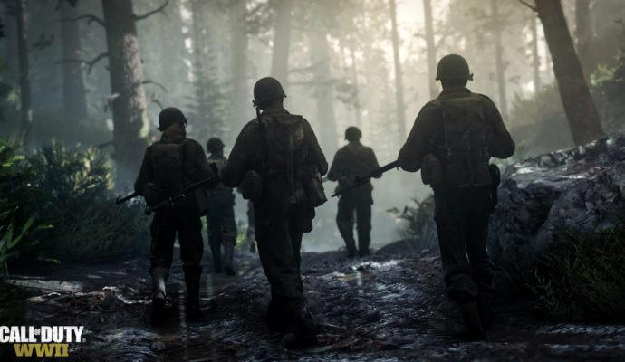 Call of Duty: WWII soldats dans la forêt
