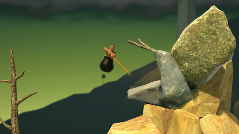 getting over it saut de l'homme-chaudron