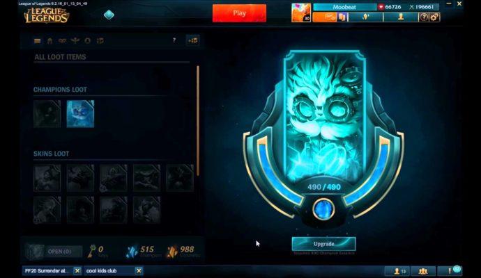 League of Legends essence bleue