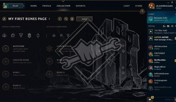 League of Legends nouvelles runes