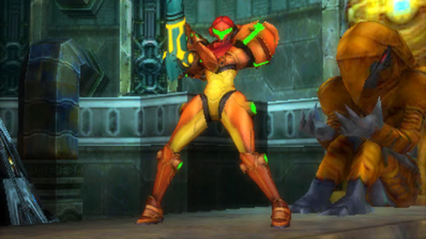 Metroid: Samus Returns Samus toute d'orange vêtue