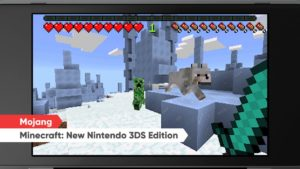 nindendo direct : minecraft pour nintendo 3DS
