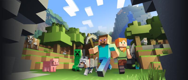 Minecraft personnage exploration dans une clairière