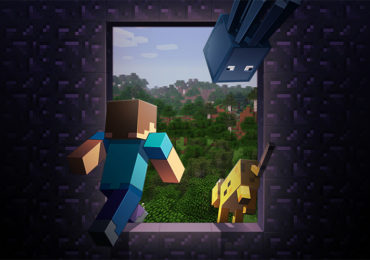 Minecraft personnage sortent vers un Realm