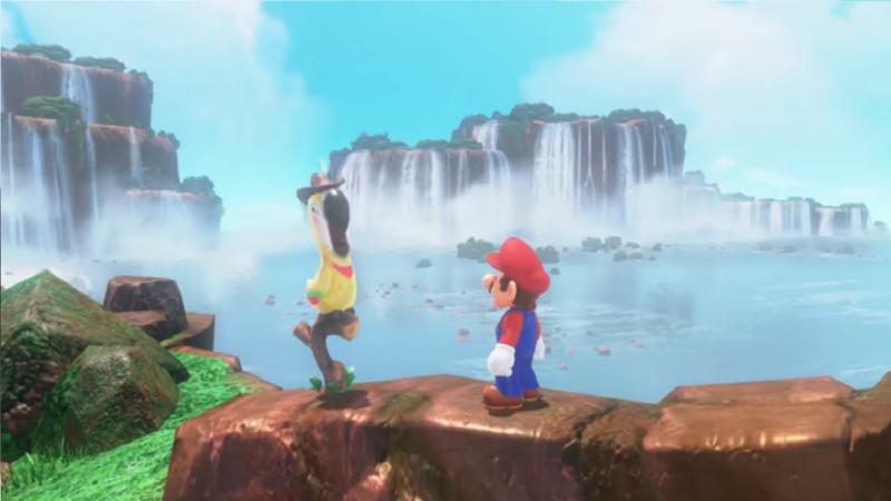 Super Mario Odyssey perroquet
