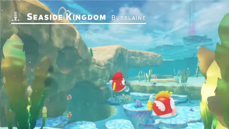 Super Mario Odyssey cheep cheep