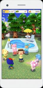 Animal Crossing Pocket Camp Installation piscine