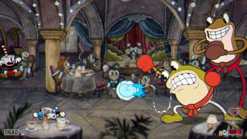 Cuphead boss-fight crapauds