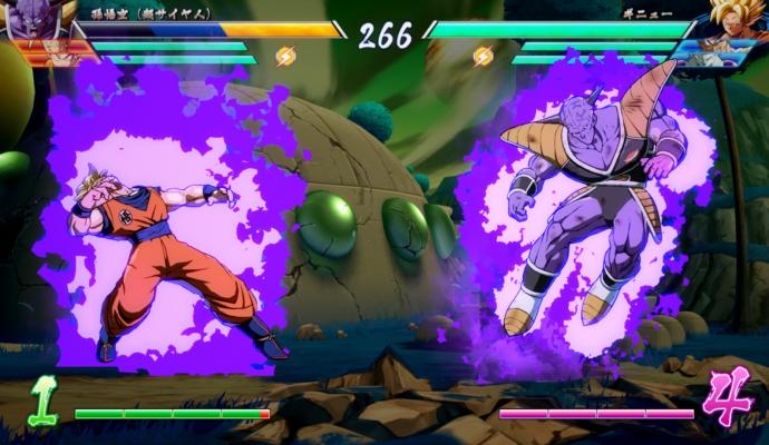 Dragon Ball FighterZ - Ginyu et Goku
