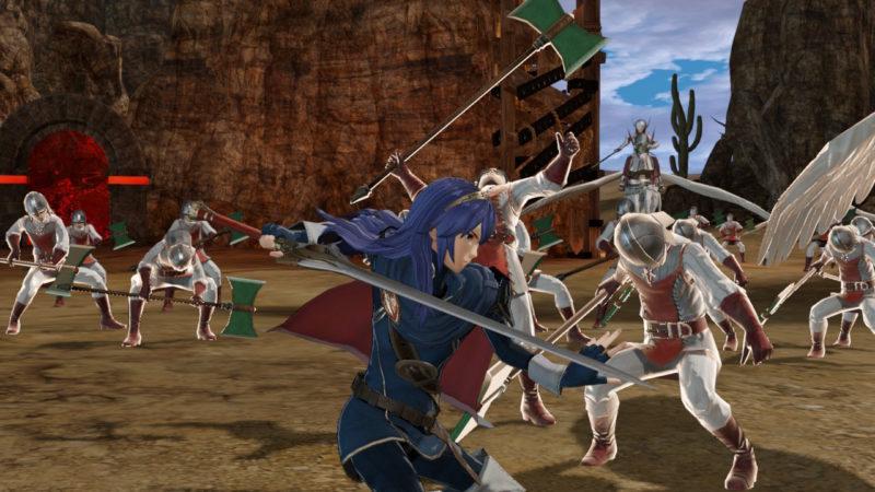 Fire Emblem Warriors - Lucina en action