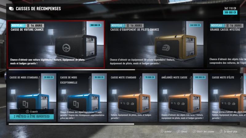 Forza Motorsport 7 - Caisses de récompenses