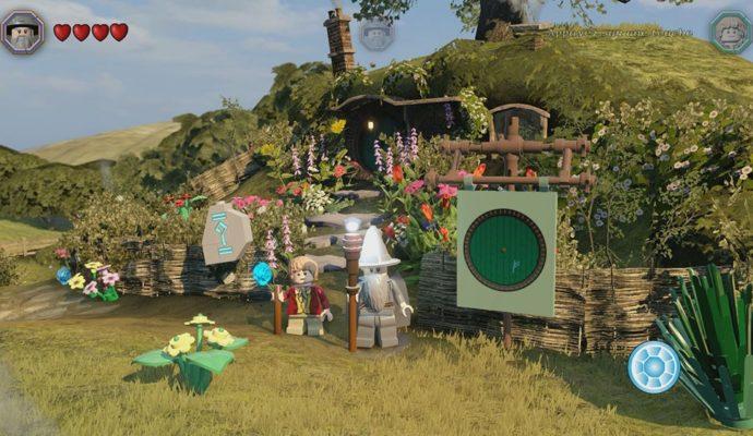 LEGO le hobbit Bilbon et Gandalf