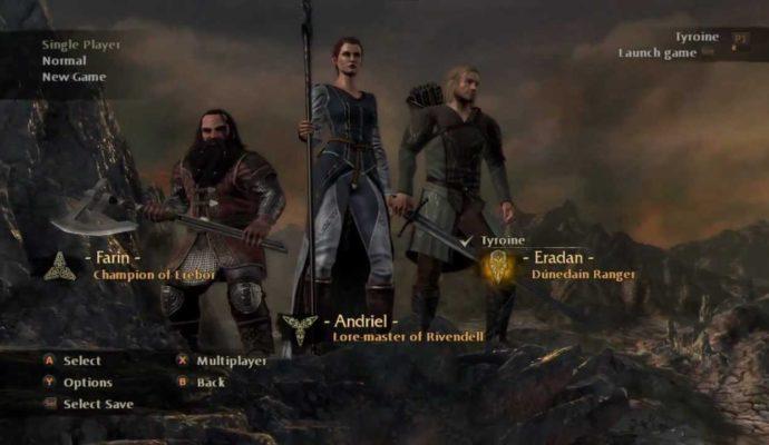 La guerre du Nord - choix personnage