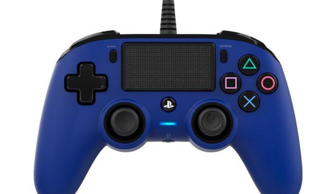 Nacon Compact Controller PS4 bleu - face avant
