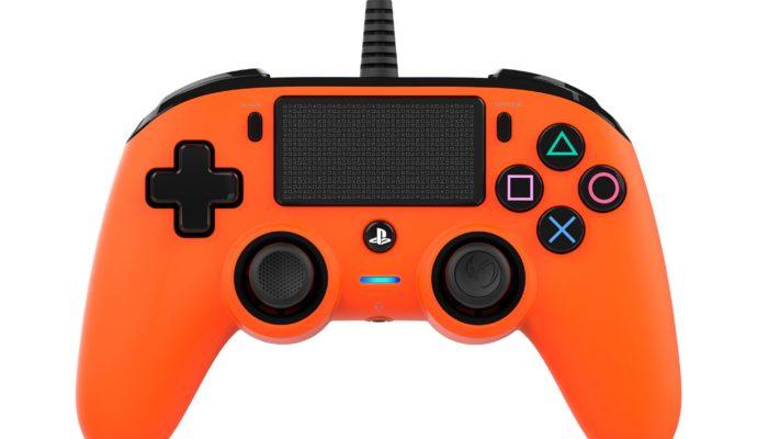 Nacon Compact Controller PS4 orange - face avant