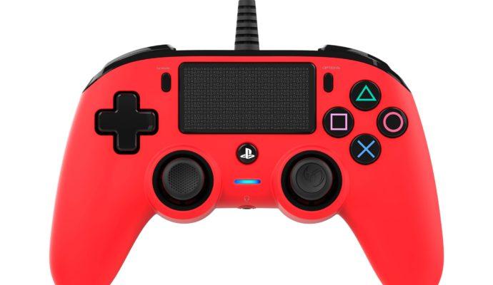 Nacon Compact Controller PS4 rouge - face avant