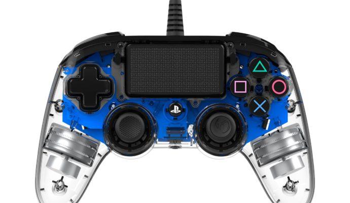 Nacon Illuminated Compact Controller PS4 bleu - éteint