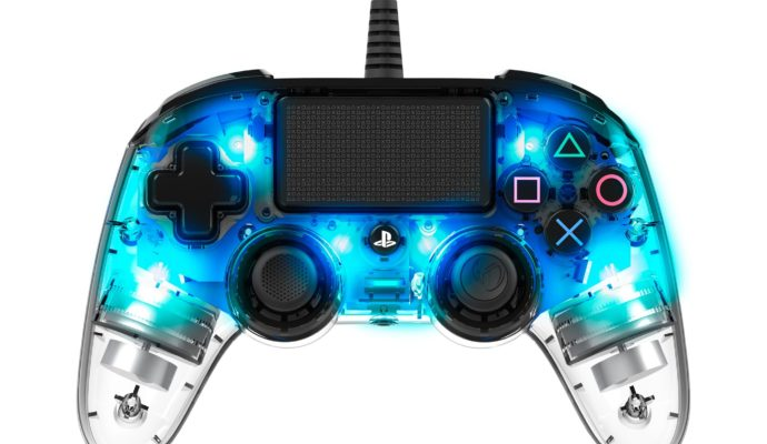 Nacon Illuminated Compact Controller PS4 bleu - allumé