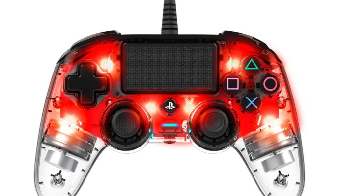 Nacon Illuminated Compact Controller PS4 rouge - allumé