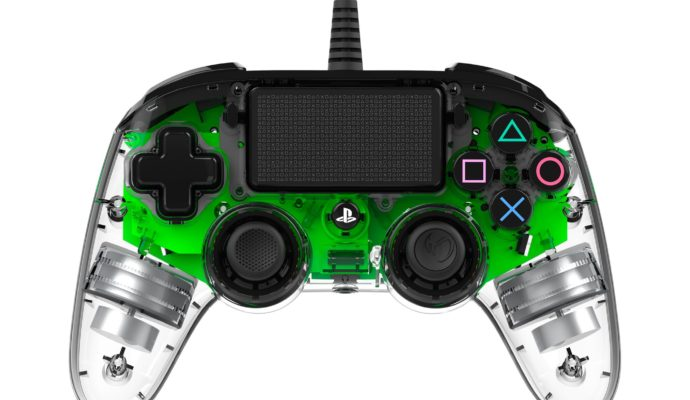 Nacon Illuminated Compact Controller PS4 vert - éteint