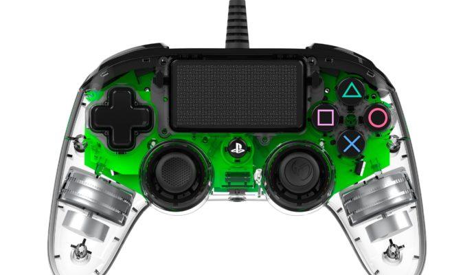 Nacon Illuminated Compact Controller PS4 vert - éteint