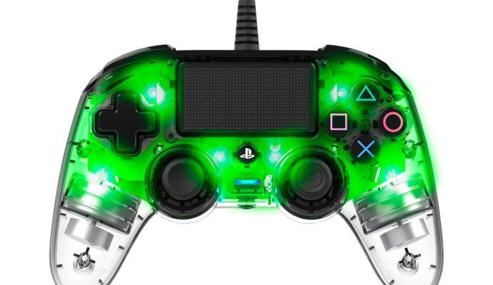 Nacon Illuminated Compact Controller PS4 vert - allumé