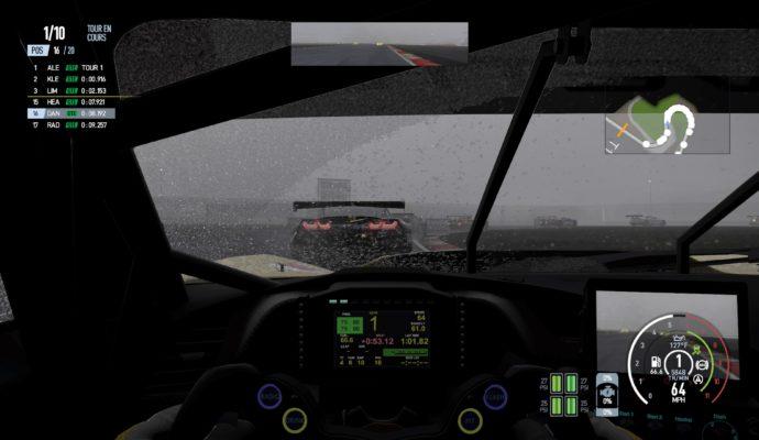 Project Cars 2 - Vue intérieur avec blizzard