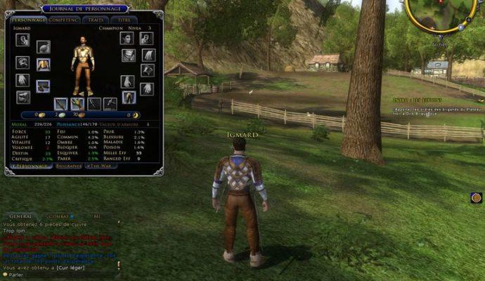 Seigneur des anneaux Online personnage