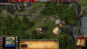 Stronghold 2 huttes en feu