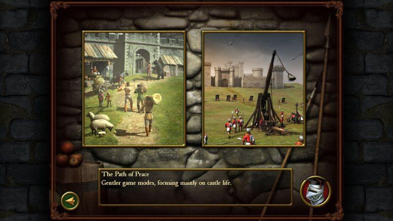 Stronghold 2 modes de jeu voie de la paix et de la guerre