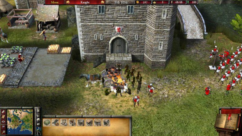 Stronghold 2 charrette en flammes