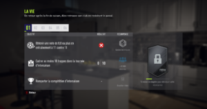 FIFA 18 - Aventure : objectifs de chapitre
