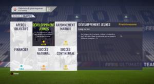 FIFA 18 - objectifs de carrière