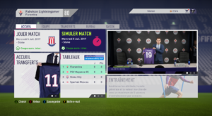 FIFA 18 - carrière accueil