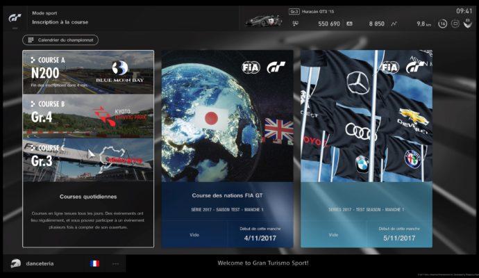 Test Gran Turismo Sport - Online mode sport