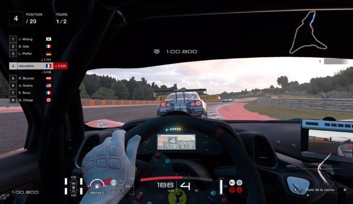 Test Gran Turismo Sport - Vue intérieur Nissan