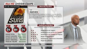 NBA 2K18 - stat équipe
