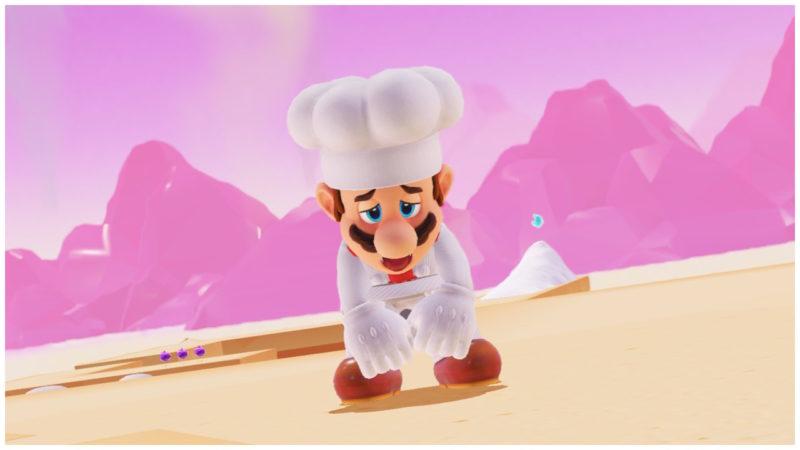 Test Super Mario Odyssey - Mario cuisiner