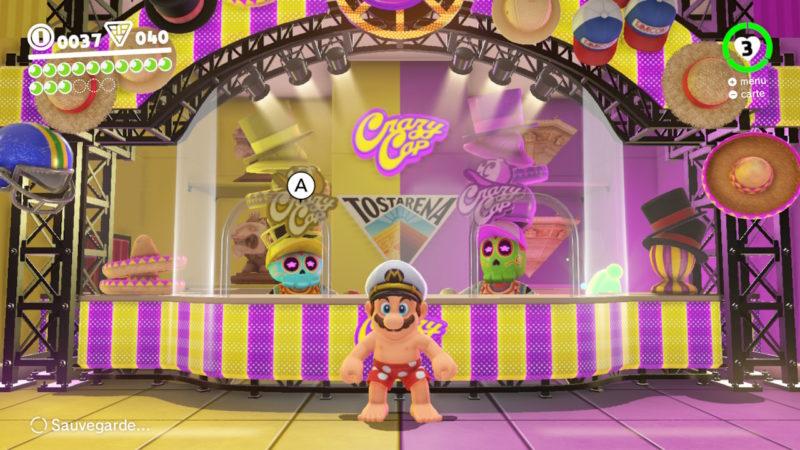 Test Super Mario Odyssey - Mario en caleçon