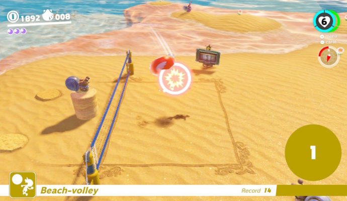 Test Super Mario Odyssey - Beach Volley
