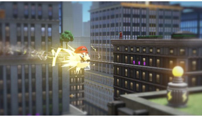 Test Super Mario Odyssey - Mario électrique
