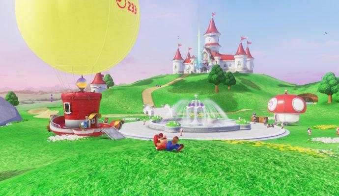 Test Super Mario Odyssey - Le pays champignon