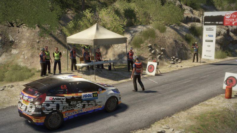 Test WRC 7 - Départ d'une course