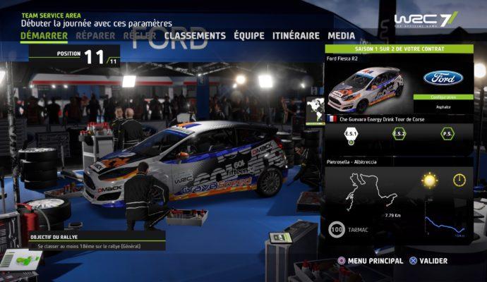 Test WRC 7 - Arrêt au paddock