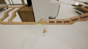 Tracks: The Train Set Game cubes sur la voie